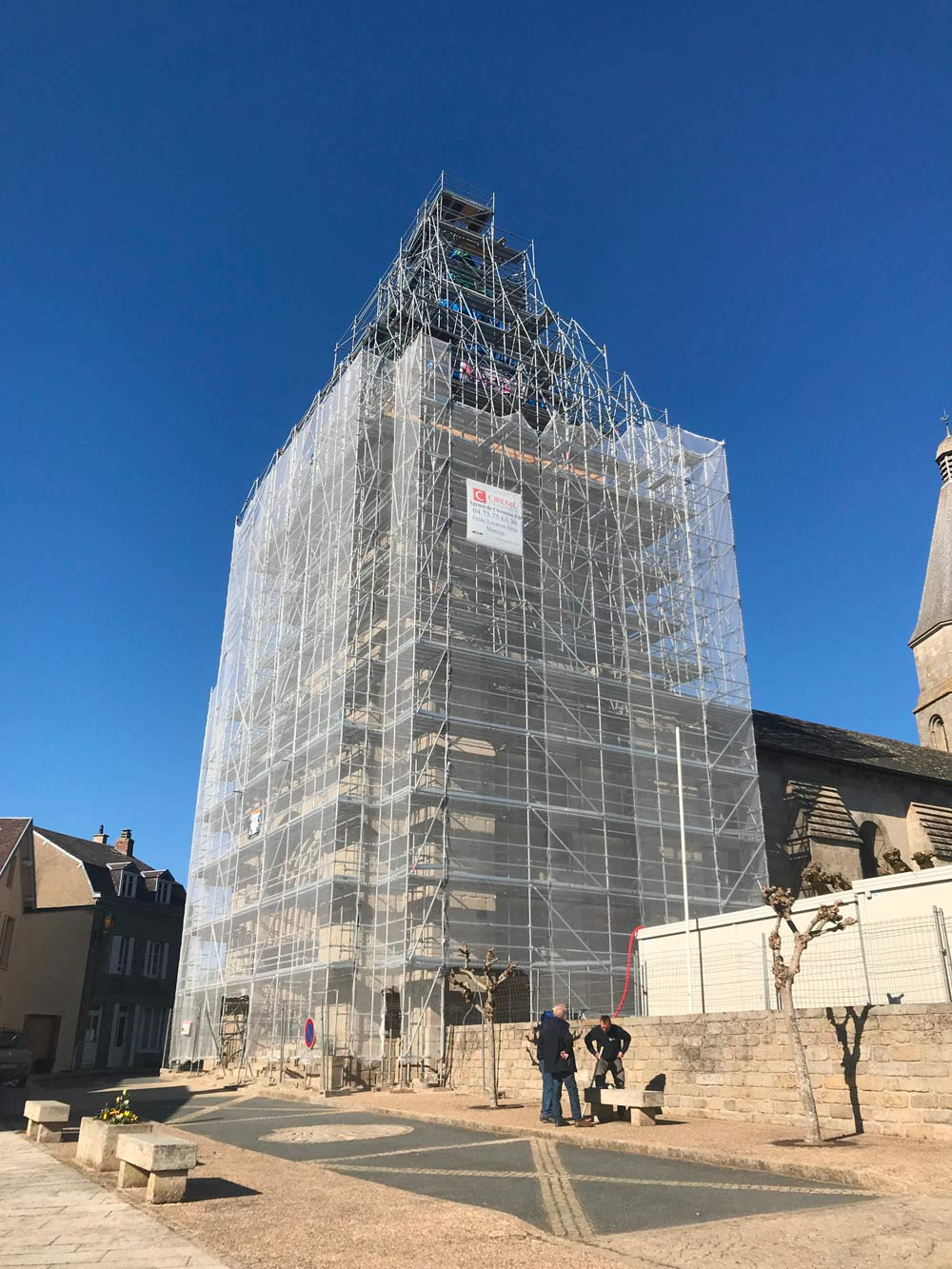 Clocher de l'abbaye de Benevent